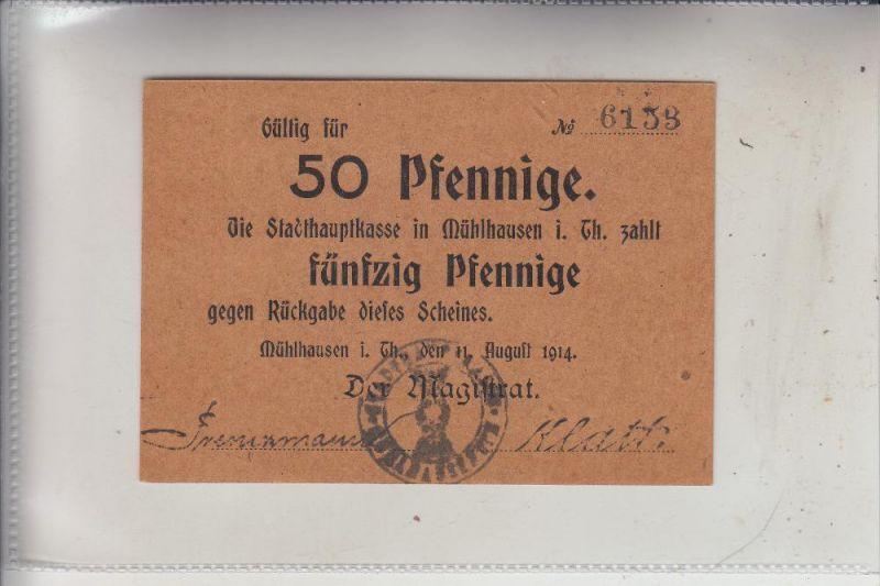NOTGELD - MÜHLHAUSEN / Thüringen, 50 Pfennig, 1914, Erhaltung I