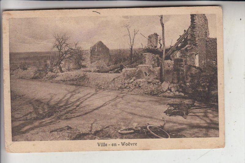 F 55160 VILLE EN WOEVRE, Zerstörungen 1.Weltkrieg, 1916