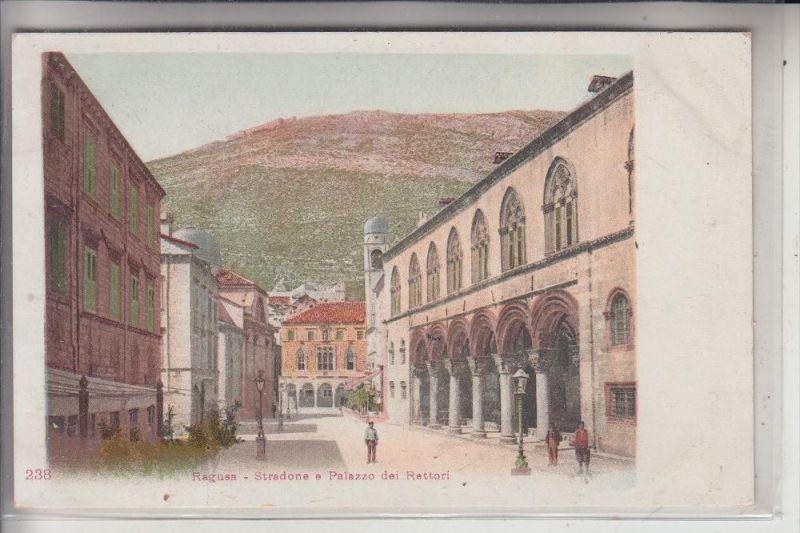 HR 20000 DUBROVNIK / RAGUSA, Stradone e Palazzo del Rettori, ca. 1905