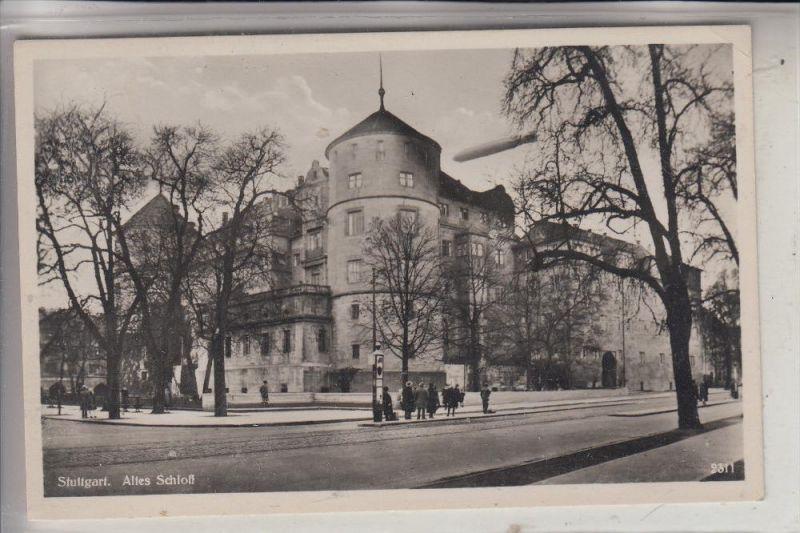 7000 STUTTGART, Altes Schloß, Zeppelin, 1931