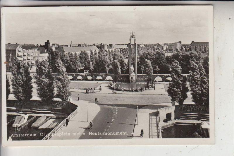 NL - NOORD-HOLLAND,  AMSTERDAM, Olympiaplein & Heutz-Monument