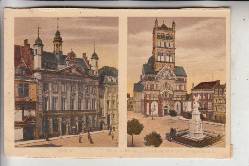 4040 NEUSS, Rathaus & St. Quirinus