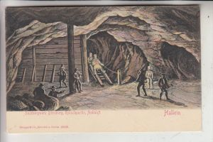 BERGBAU - Mining, HALLEIN, Salzbergwerk Dürnberg, Rutschpartie, Ankunft, Stengel-Verlag, ca. 1905
