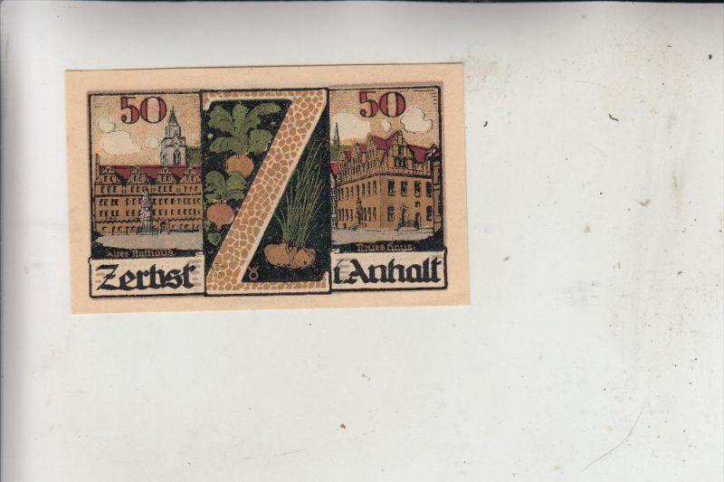 0-3400 ZERBST, Notgeld 50 Pfennig, 1921