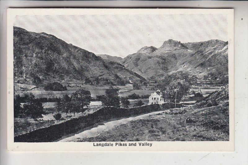 UK - ENGLAND - CUMBRIA - Lake District, langdale Pikes and Valley