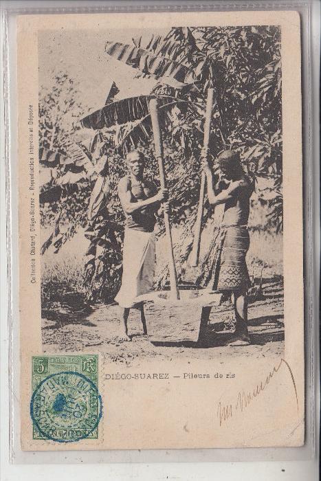 MADAGASKAR - DIEGO SUAREZ, Pileurs de Riz