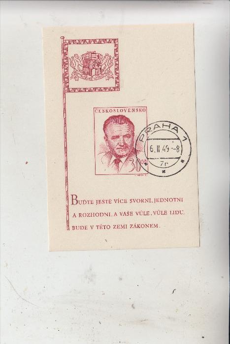 CSSR - 1948, Gottwald, Block 10 gestempelt