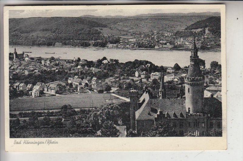 5462 BAD HÖNNINGEN, Panorama ,mit Schloß Arenfels, 195...