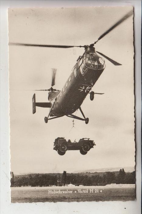MILITÄR - FLUGZEUGE - Bundeswehr Hubschrauber VERTOL  H 21