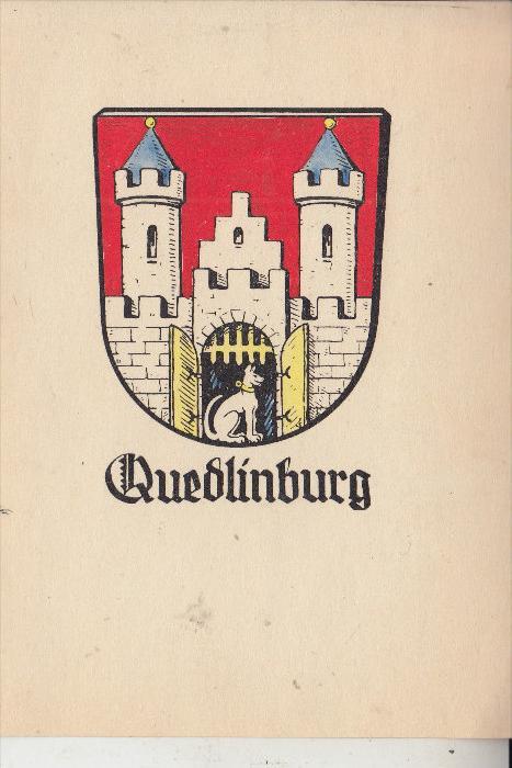 0-4300 QUEDLINBURG, Stadtwappen, keine AK-Einteilung