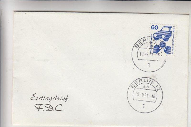 BERLIN - FDC 409A, 10.09.1971