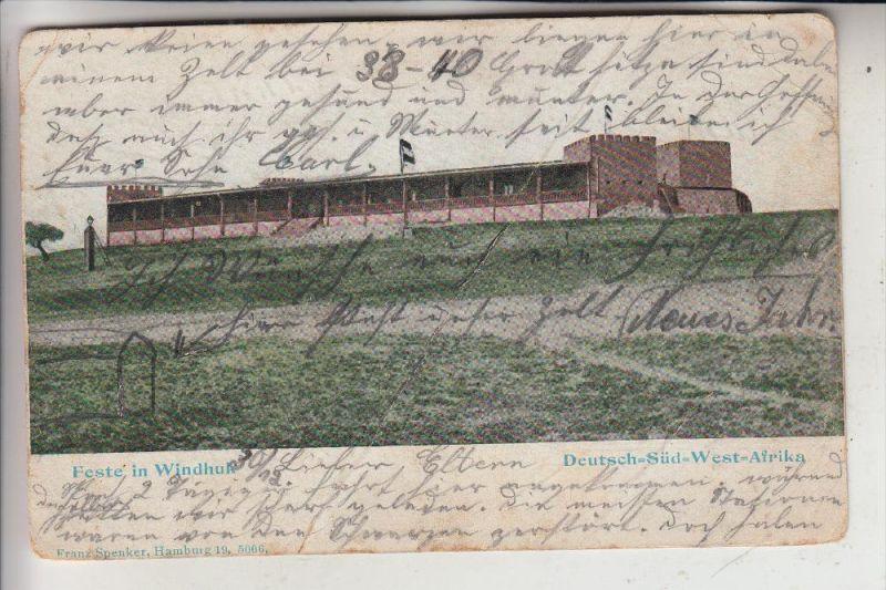 DEUTSCH SÜDWEST AFRIKA, Windhuk, Feste, 1905, COLOR, Knick