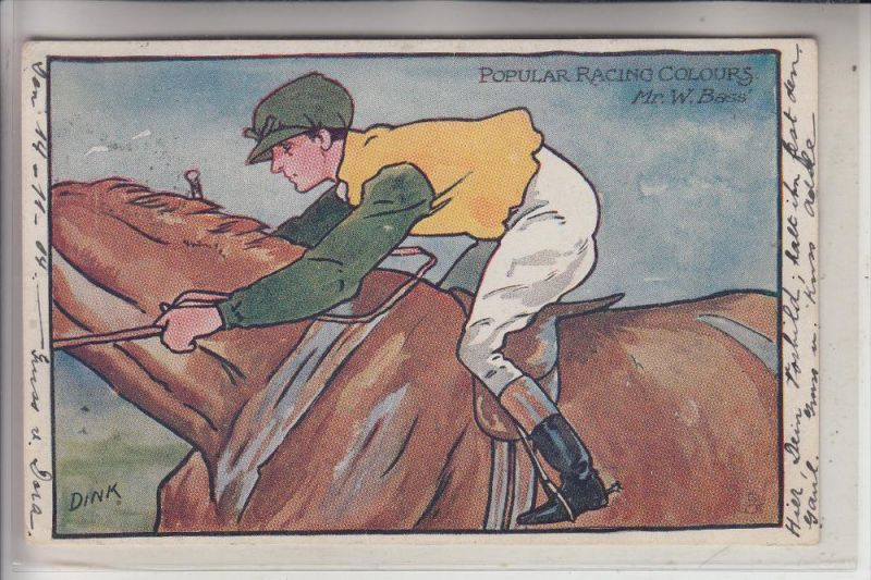 SPORT - TURF - Famous Racing Colours, Mr. W. Bass, Oilette, 1904