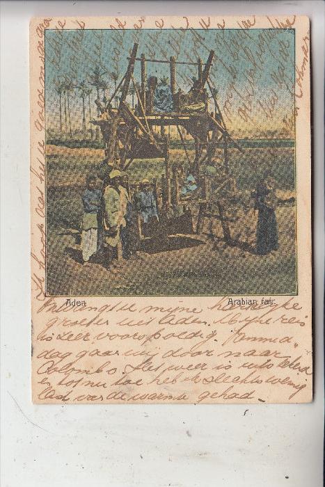 YEMEN - ADEN, Arabian fair,1902, Schiffspost: Ostasiatische Linie & franz. Paqueboat Linie