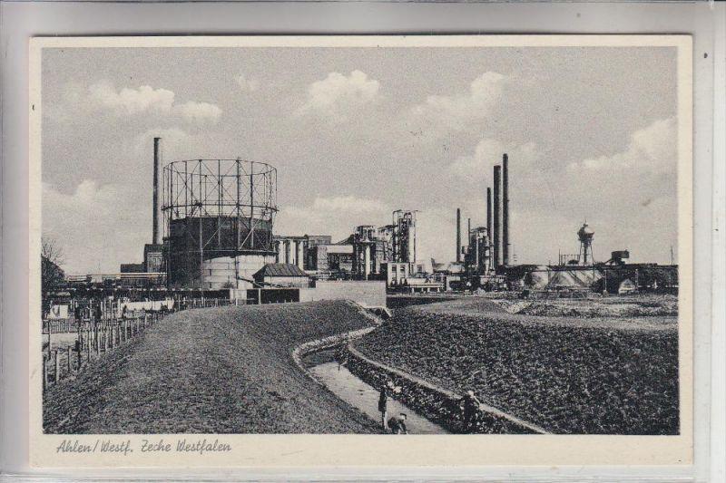 4730 AHLEN, Zeche Westfalen / Bergbau - mining, 1956