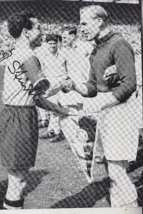 SPORT - FUSSBALL - BAYERN MÜNCHEN - JAKOB STREITLE, Abschiedsspiel - Manchester City, Bernd Trautmann,  Mai 1954
