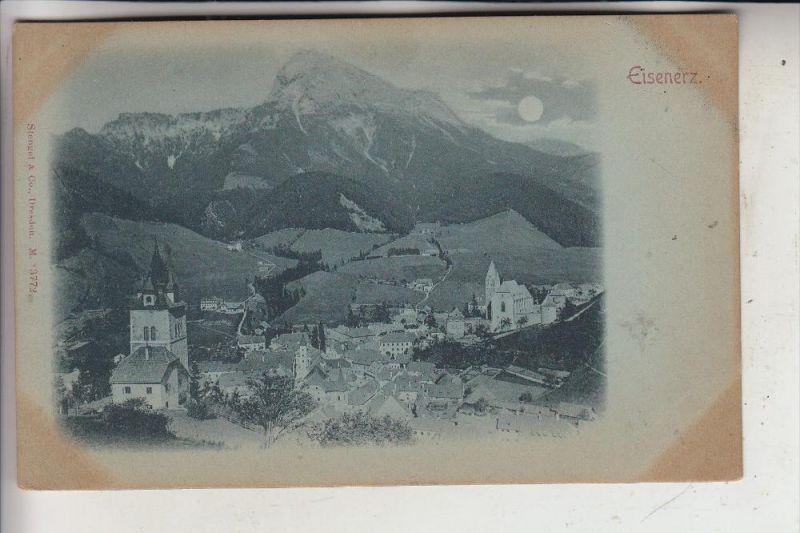 A 8790 EISENERZ, Panorama, ca. 1900, Stengel-Dresden