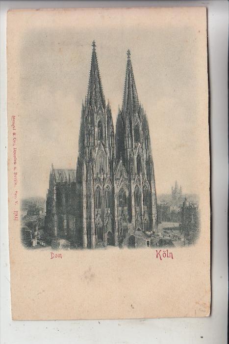 5000 KÖLN, KÖLNER DOM, Relief-Karte, geprägt, 1903, Stengel-Verlag