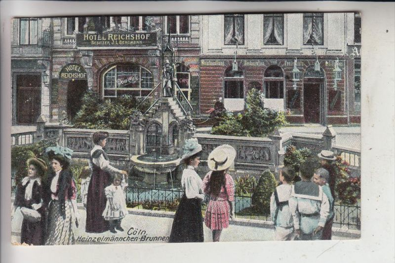 5000 KÖLN, Heinzelmännchen-Brunnen, Hotel Reichshof,  Kölner Grosstadtleben, 1911