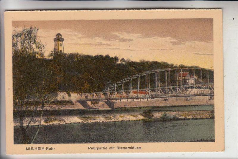 4330 MÜLHEIM / Ruhr, Ruhrpartie mit Bismarckturm