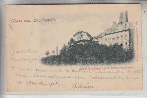 5330 KÖNIGSWINTER, Hotel Drachenfels und Ruine Drachenfels, 1898