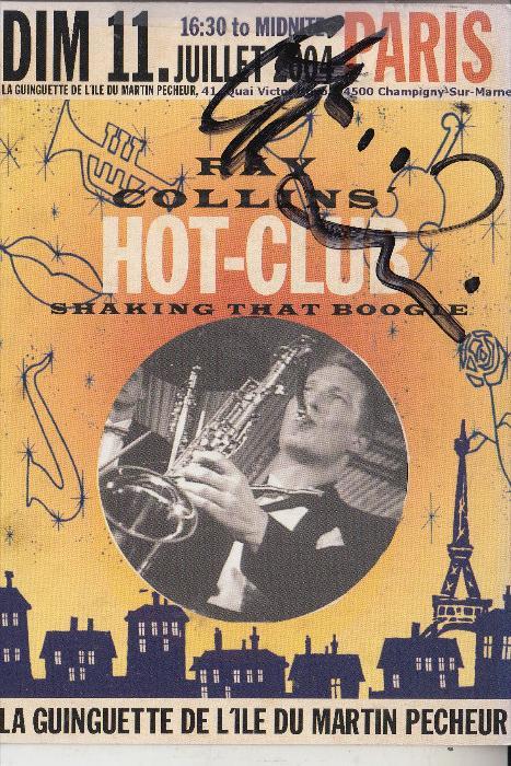 MUSIK - RAY COLLINS Hot Club, Autogramm 2004 Paris