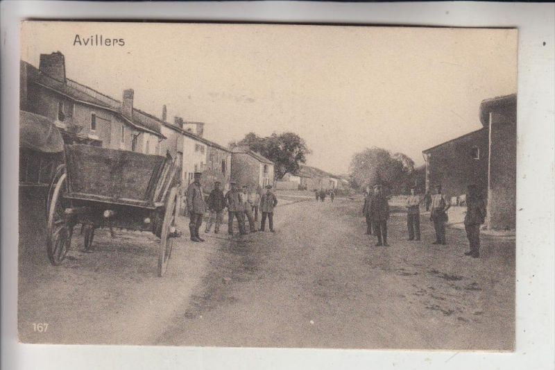 F 54490 AVILLERS, Zerstörungen 1. Weltkrieg, 1916, deutsche Feldpost