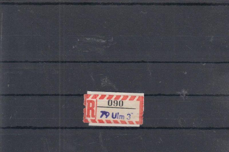 7900 ULM, POSTGESCHICHTE - Einschreibe-Zettel 7900 Ulm 3, Handstempel