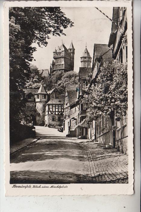 6333 BRAUNFELS, Blick zum Marktplatz,  700 Jahre Braunfels, 1958