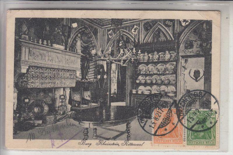 5484 BAD BREISIG, Burg Rheineck, Rittersaal, 1921