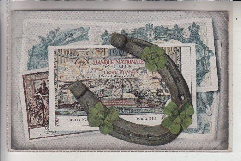 BANKNOTEN, Belgische Banknoten, Hufeisen, 1907