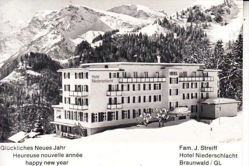 CH 8784 BRAUNWALD, Hotel Niederschlacht, keine AK-Einteilung
