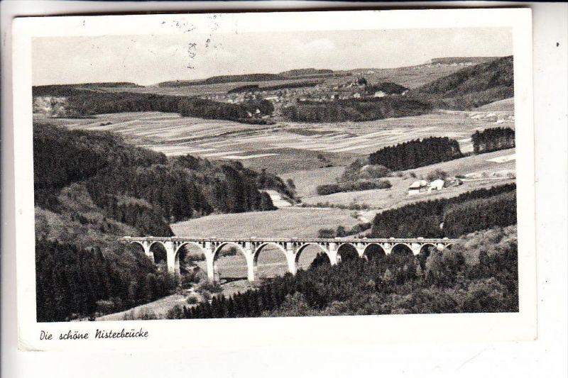 5238 HACHENBURG - MARIENSTATT, Nisterbrücke, 1955