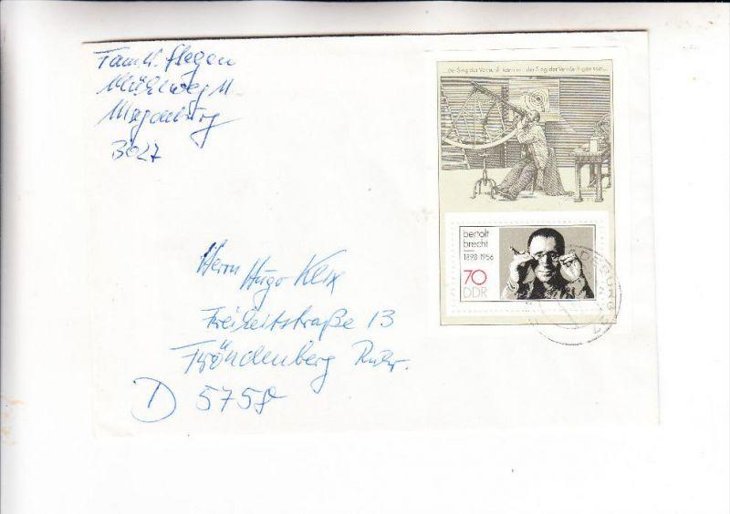 DDR, Michel 3148, Block 91, Einzelfrankatur