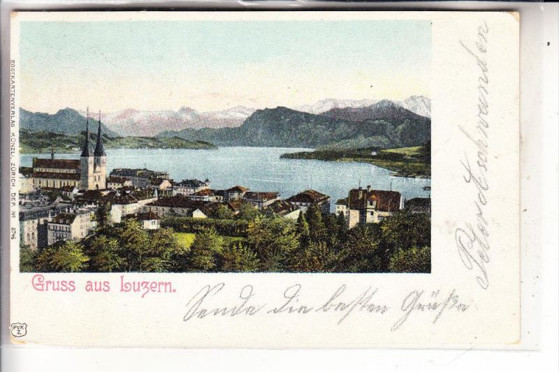 CH 6000 LUZERN, Gruss aus..., 1902, Brfm. fehlt
