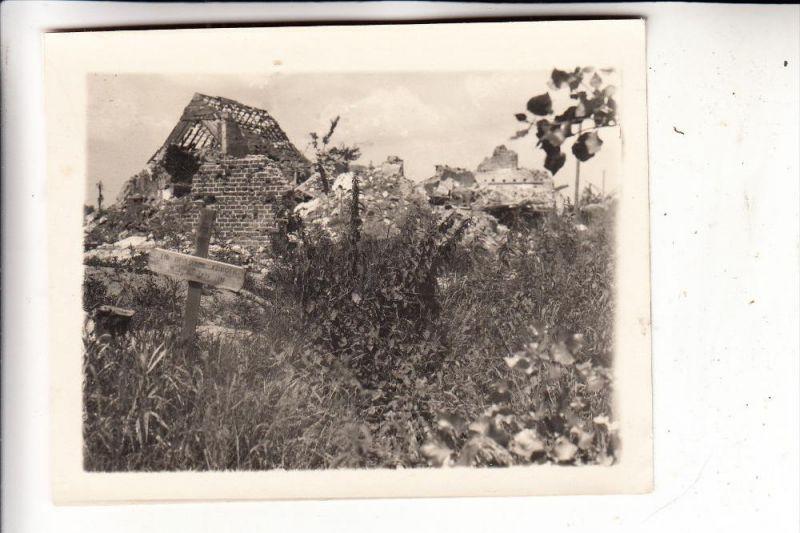 B 8920 LANGEMARK - POELKAPELLE, Zerstörungen 1.Weltkrieg, Soldatengrab, Photo