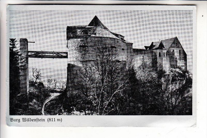 7795 LEIBERTINGEN, Burg Wildenstein, Kosmos-Alu-Karte