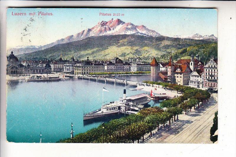 CH 6000 LUZERN, Panorama, 1911