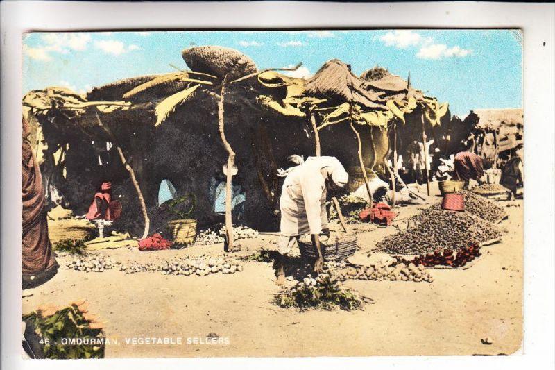 SUDAN - OMDURMAN; Vegetable seller, 1961