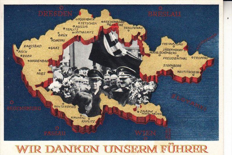 GESCHICHTE - Ganzsache III.Reich, Sonderstempel Staatsbesuch des Prinzregenten Paul von Jugoslawien, 1939