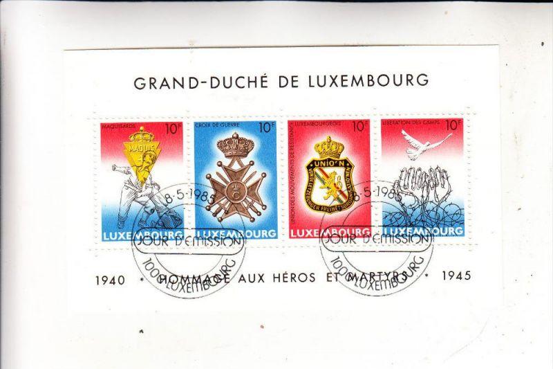 LUXEMBURG - Prifix Bl.14, FDC-Abstemmpelung, 1985