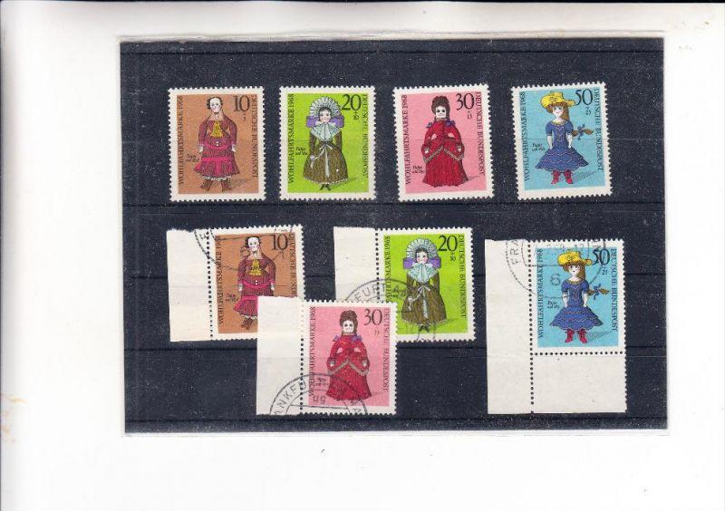BUND, 1968, Michel 571 - 574 ** & o, postfrisch & gestempelt