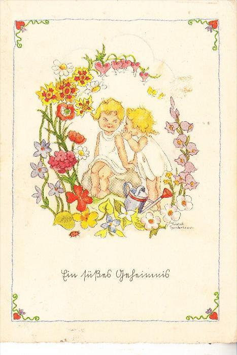 KINDER, Künstler-Karte Liesel Lauterborn, 1942,
