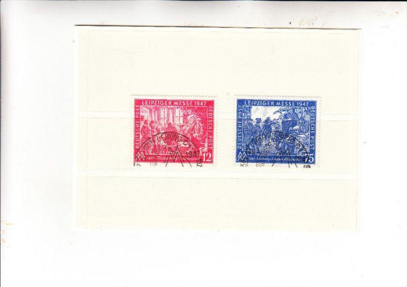 ALLIIERTE BESETZUNG - 1947, Michel 965 - 966, Leipziger Herbstmesse, mit Sonderstemepl entwertet