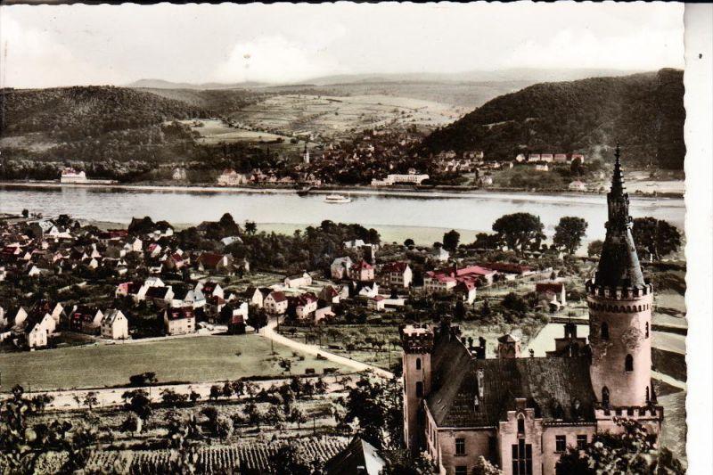 5462 BAD HÖNNINGEN, Ortsansicht mit Schloß Arenfels, 1961