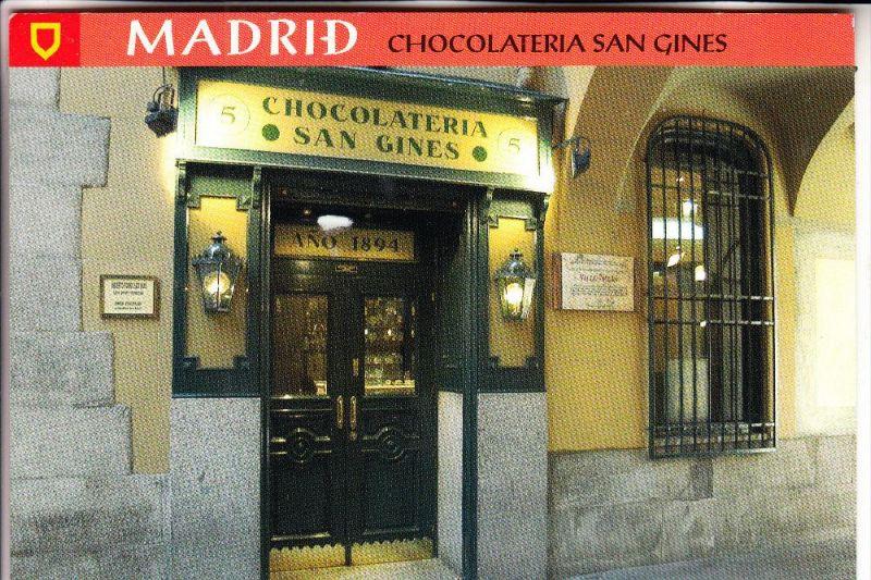 E 28000 MADRID, Chocolateria San Gines