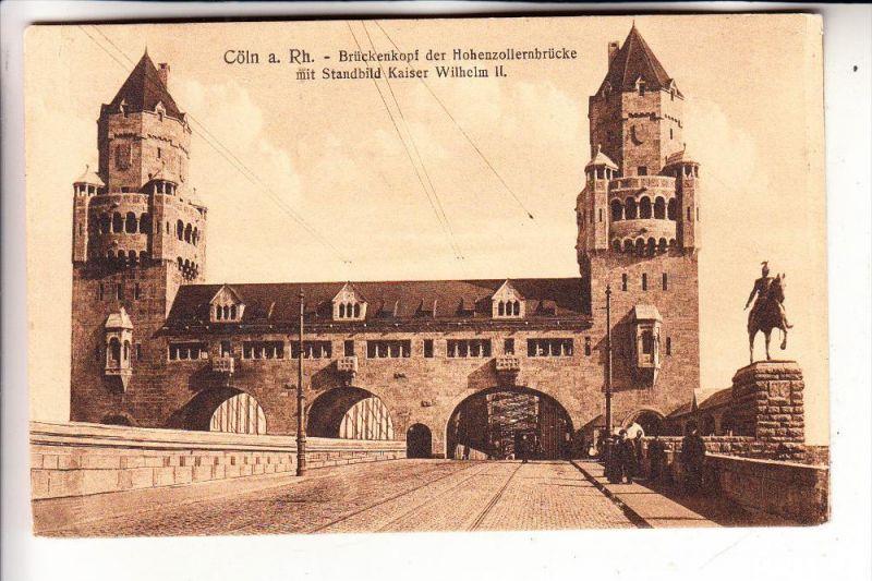 5000 KÖLN, Hohenzollernbrücke, Brückenkopf, Standbild Kaiser Wilhelm II.