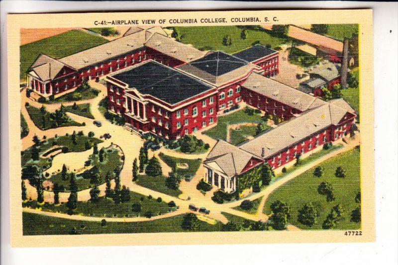 USA - SOUTH CAROLINA - COLUMBIA, Columbia College, Airplane view