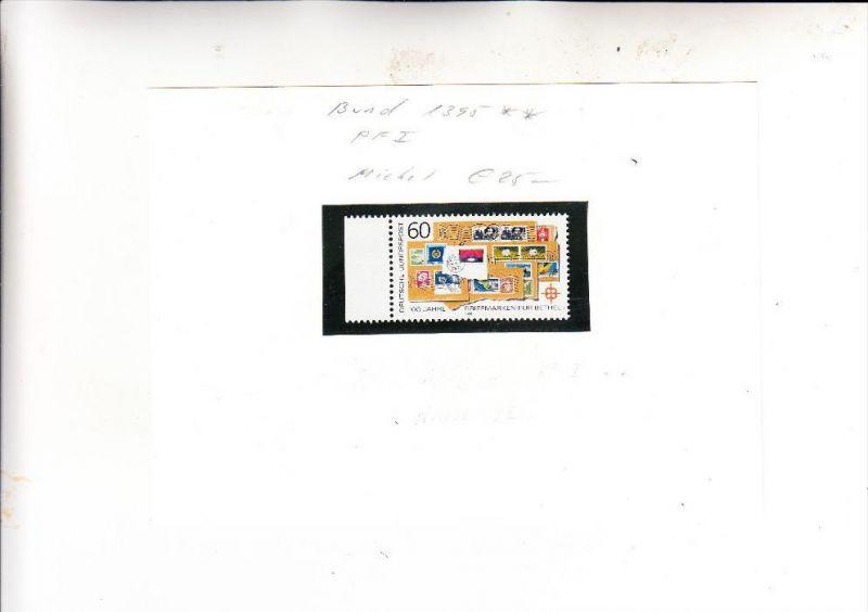 BUND, 1988, Michel 1395 I, gebrochenes T in POST, postfrisch **