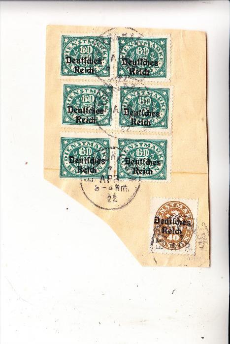 DEUTSCHES REICH, Michel D 39 (1) & 41 (6), Briefstück 7.4.1922